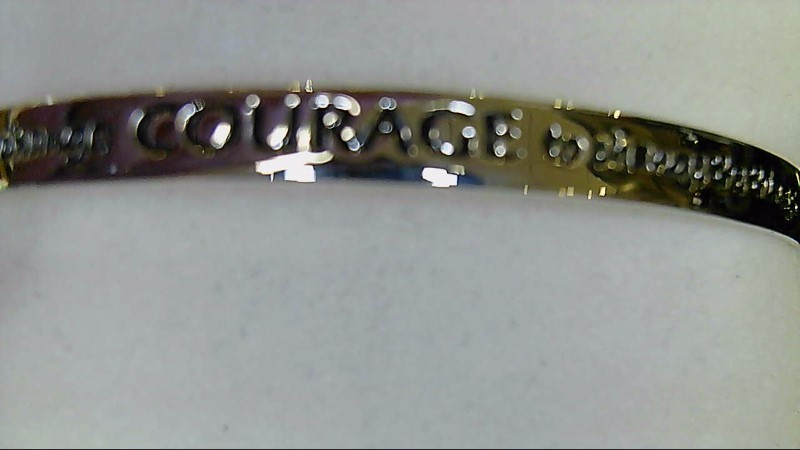 Lady's sterling silver 925 cuff courage bracelet
