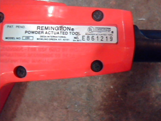 REMINGTON PRODUCTS Cement Hand Tool POWER ACTUATED TOOL 490