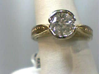 Lady's Diamond Engagement Ring 1.00 CT. 14K 2 Tone Gold 4.7dwt Size:5.7
