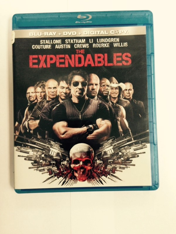 THE EXPENDABLES 3-DISC BLU-WAY DVD SET