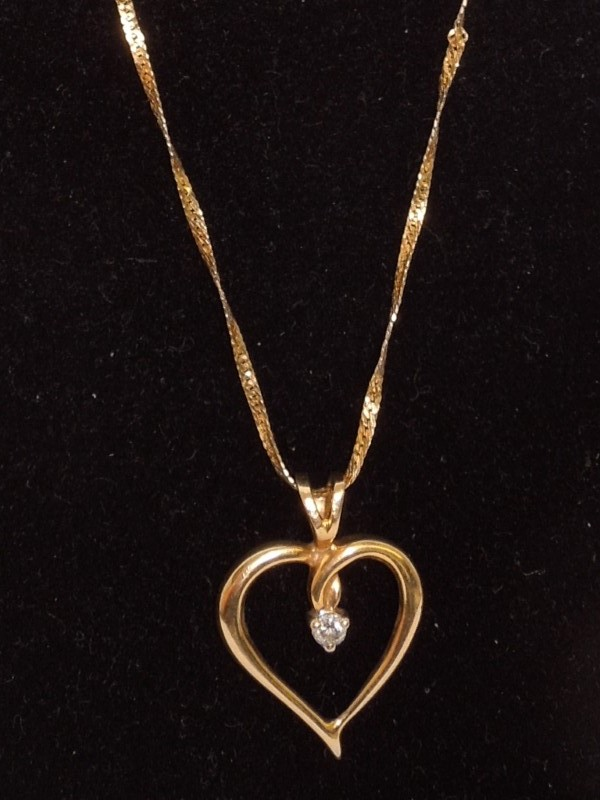 "19"" Diamond Necklace .05 CT. 14K Yellow Gold 2.8g"