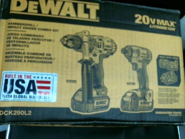 DEWALT Cordless hammerdrill/impact driver combo 20 v max