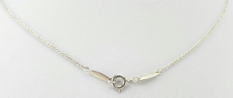 "Tiffany & Co. Elsa Peretti Cross 16"" 925 Silver 2.8g"