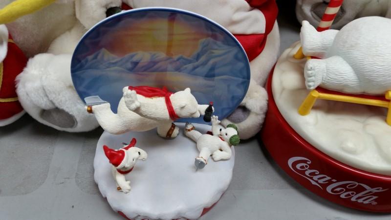 COCA COLA Collectible Plate/Figurine POLAR BEAR