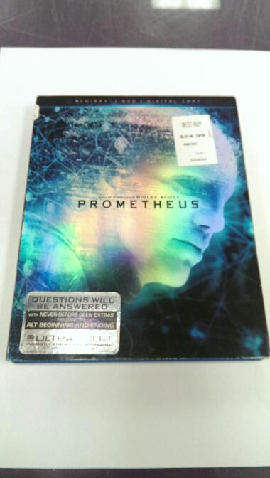 PROMETHEUS BLU-RAY MOVIE
