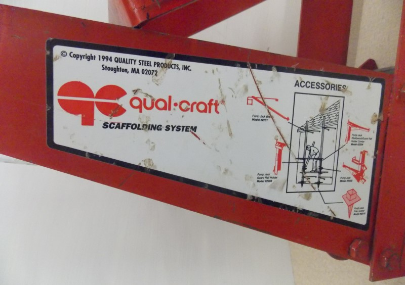QUAL CRAFT SCAFFOLDING SYSTEM MODEL #2200 AND #2204