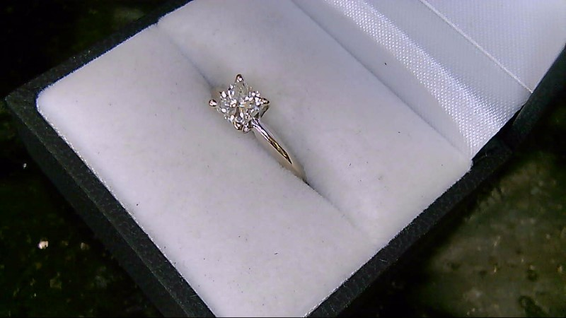 Lady's Diamond Solitaire Ring .68 CT. 14K White Gold 2g