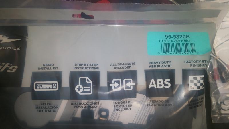 METRA  95-5820B 95-5820B Install Kit for 2009 F-150