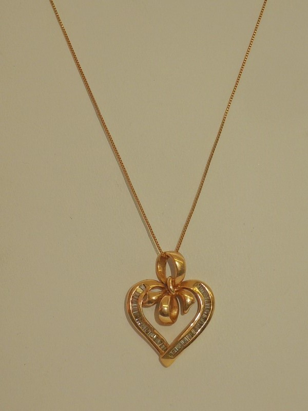 Diamond Necklace 50 Diamonds .50 Carat T.W. 14K Yellow Gold 5.1g