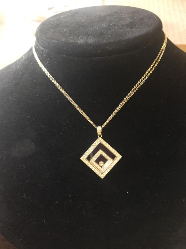 "Chopard 16"" Diamond Necklace 61 Diamonds .70 Carat T.W. 18K White Gold 20.2g"