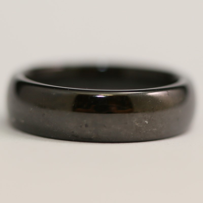 Black Tungsten Rounded Fit Wedding Band Size 7.5