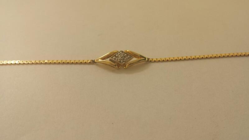 14K-Y/G Diamond Bracelet