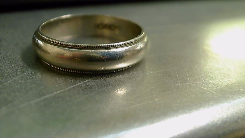 Gent's Gold Wedding Band 14K White Gold 5.1g