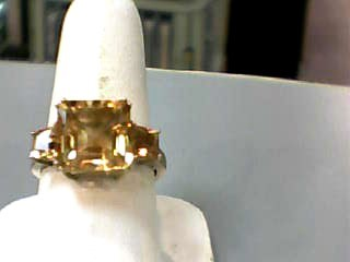 Citrine Lady's Stone Ring 10K Yellow Gold 2.3dwt Size:8.3