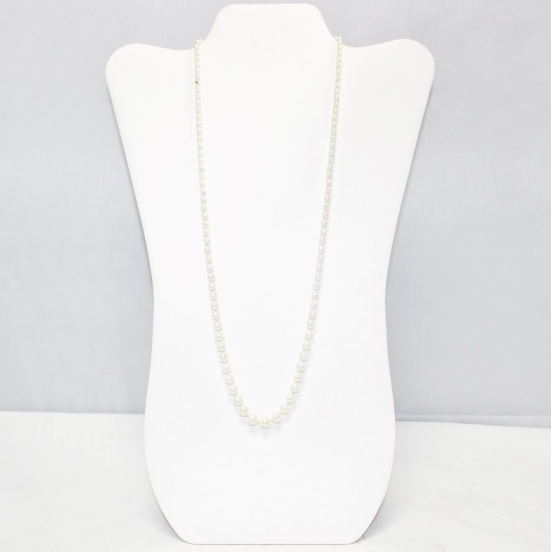 "Vintage Style 26"" & 8"" Pearl Strand Necklace and Bracelet Set"
