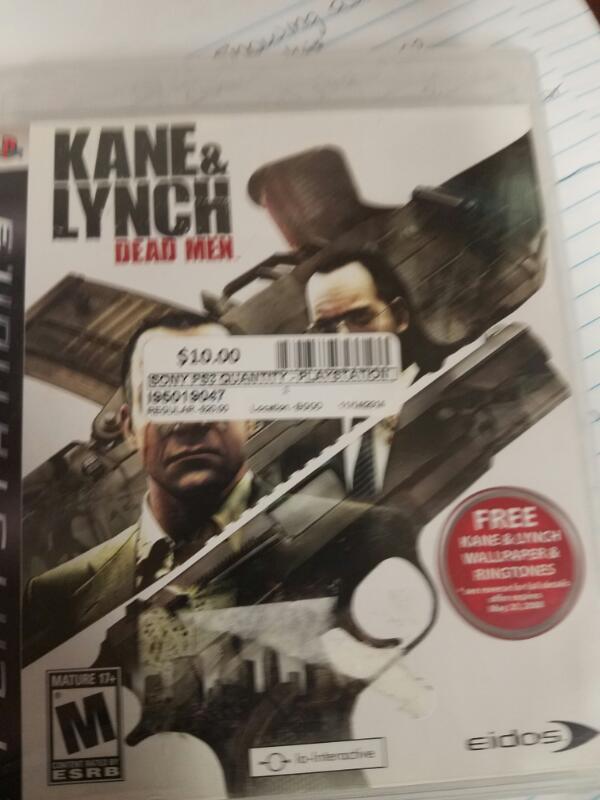 SONY Sony PlayStation 3 Game KANE & LYNCH: DEAD MEN