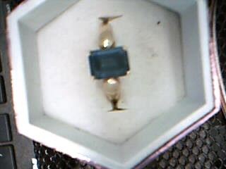 Blue Stone Lady's Stone Ring 14K Yellow Gold 2.34g