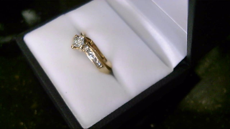 Lady's Diamond Wedding Set 13 Diamonds .76 Carat T.W. 14K Yellow Gold 4.9g