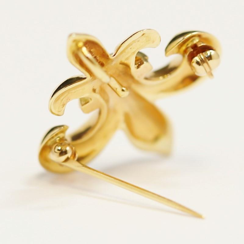 Fleur De Lis 14K Gold Pin/Pendant