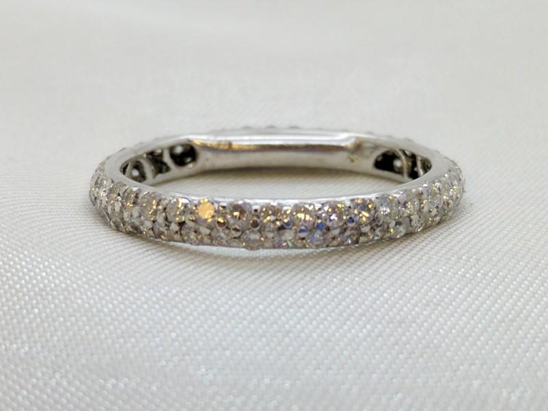Lady's Gold-Diamond Anniversary Ring 100 Diamonds 1.00 Carat T.W.