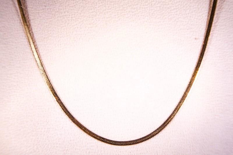"""12"""" Gold Herringbone Chain 14K Yellow Gold 2.5g"""