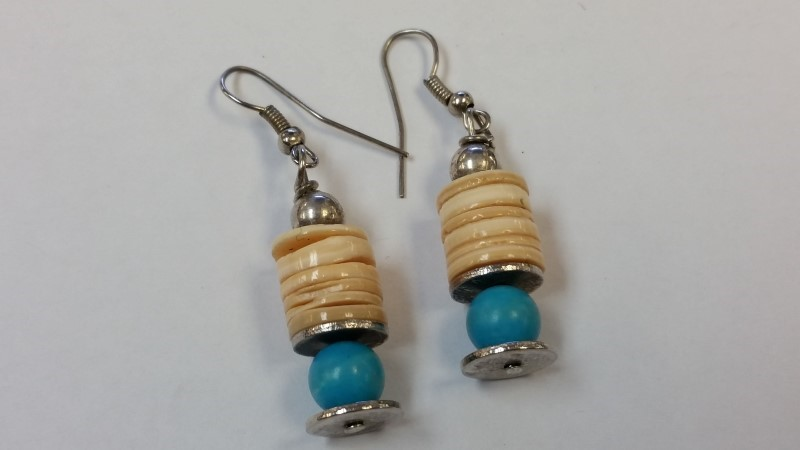 Silver Earrings 925 Silver 9.6g Native American Turquoise