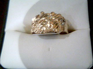 Gent's Gold Ring 10K Yellow Gold 3.7g Size:8.5