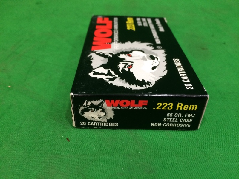 WOLF® Performance Ammunition .223 Remington/5.56 NATO 55-Grain Bimetal Jacket Ce