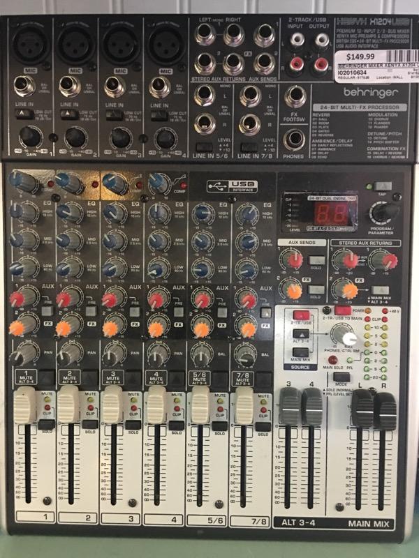BEHRINGER Mixer XENYX X1204 USB