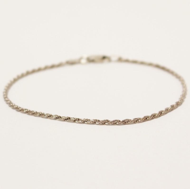 "8"" Sterling Silver Rope Bracelet"