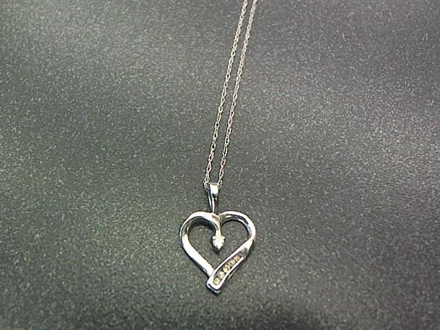 Diamond Necklace 6 Diamonds .20 Carat T.W. 10K White Gold 1.7g