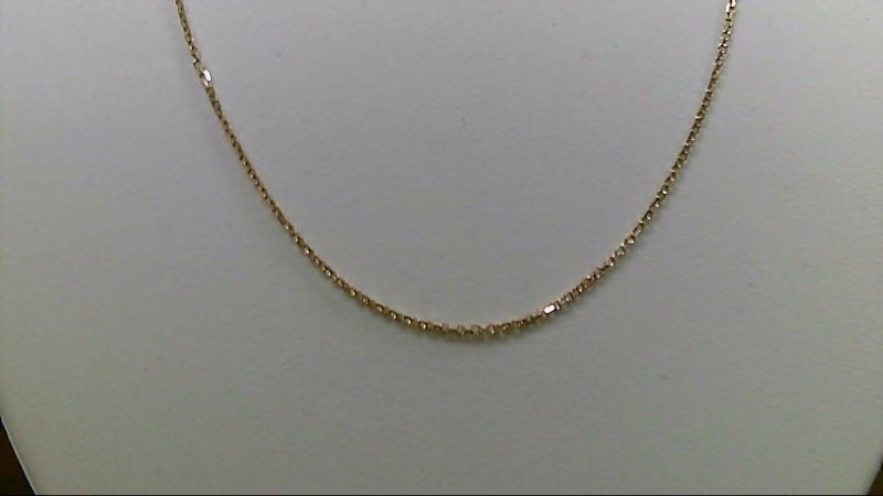 "18"" Gold Link Chain 14K Yellow Gold 2.1g"