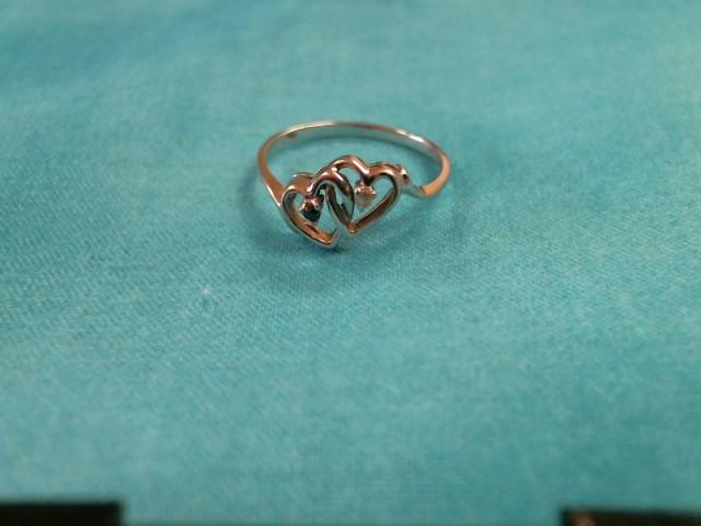 Black Stone Lady's Stone & Diamond Ring 2 Diamonds .05 Carat T.W.