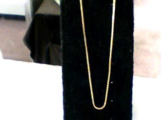 "20"" Gold Box Chain 14K Yellow Gold 2.7dwt"