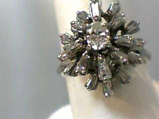 Lady's Diamond Fashion Ring 21 Diamonds 1.30 Carat T.W. 18K White Gold 3.7dwt
