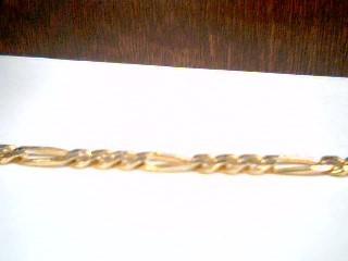 Gold Figaro Bracelet 14K Yellow Gold 4.7g