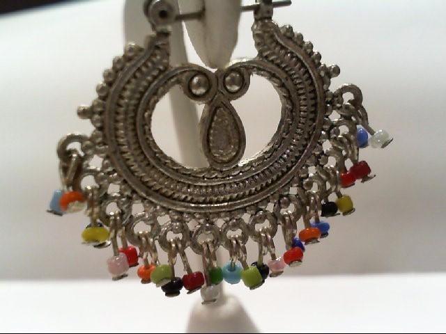 Silver Earrings Silver Plate 10.8g