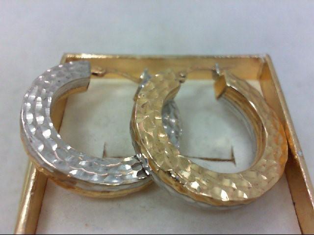 Gold Earrings 14K 2 Tone Gold 7.6g