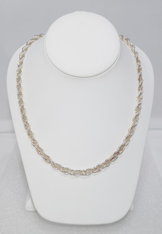 "Sterling Silver 24"" French Rope Chain Necklace"