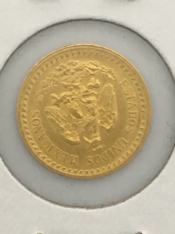 1919 Dos Y Medio (2 1/2) Pesos Gold Coin (Mexico)