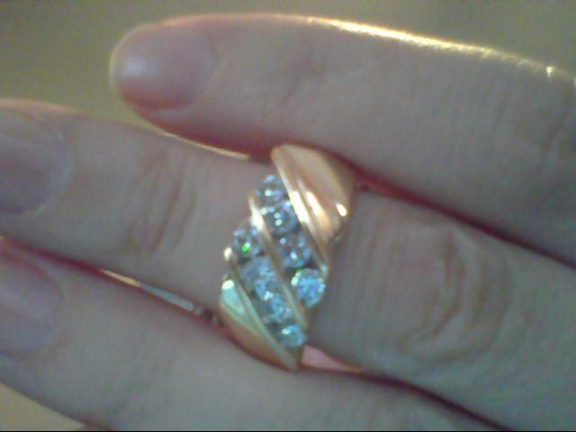 Gent's Diamond Fashion Ring 8 Diamonds .64 Carat T.W. 14K Yellow Gold 11.3g