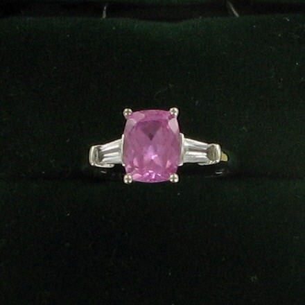 Pink Stone Lady's Silver & Stone Ring 925 Silver 2dwt