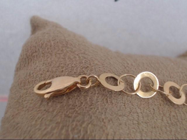 Synthetic Cubic Zirconia Gold-Stone Bracelet 21K Yellow Gold 8.3g