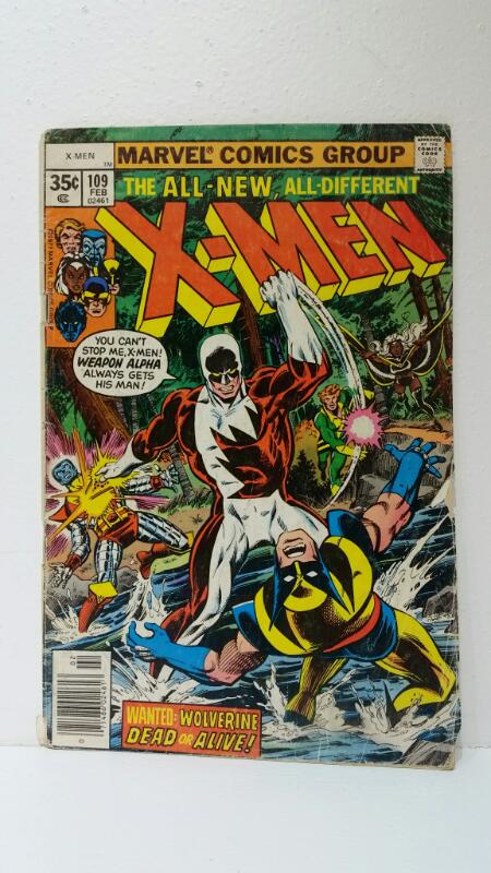 "X-Men #109 Feb 1978 ""Home are the Heroes"" Weapon Alpha Gary Cody First"