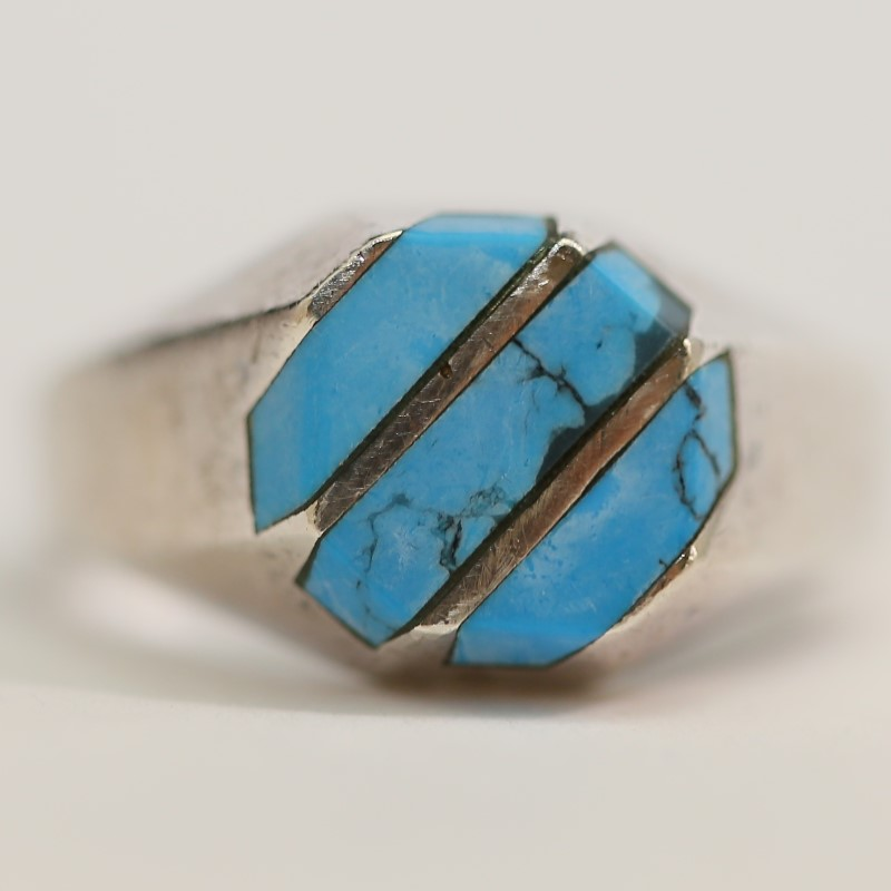 Sterling Silver and Turquoise Ring Size 12.5