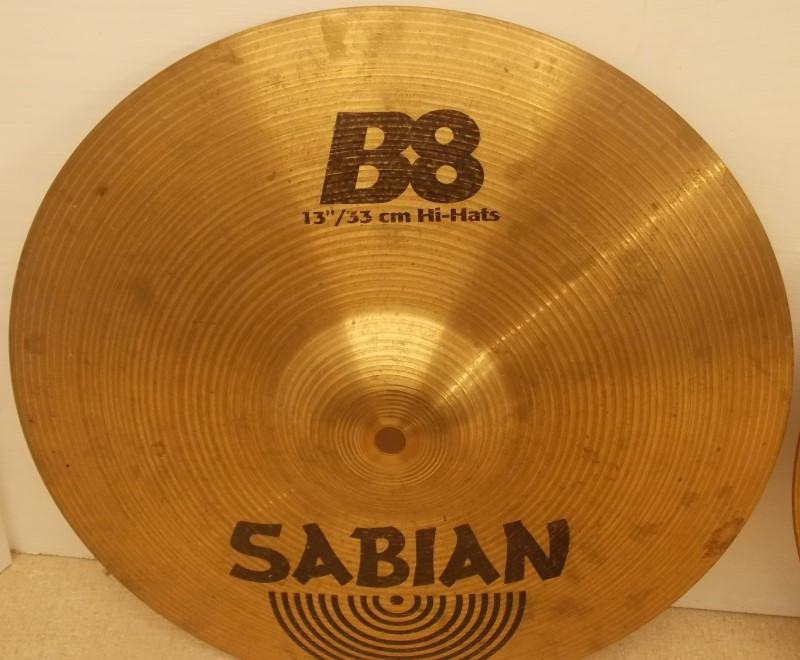 "SABIAN B8 13"" HI-HATS CYMBALS (PAIR)"