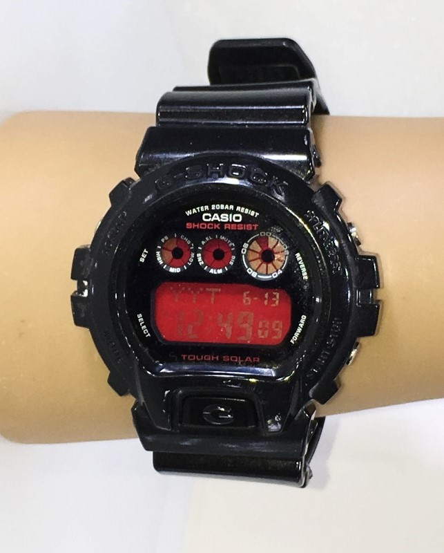 CASIO G-Shock G-6900CC Shock Proof Chronograph Black & Red Watch
