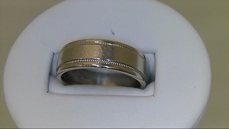 gent's 14k white gold size 10 wed band 9.3g