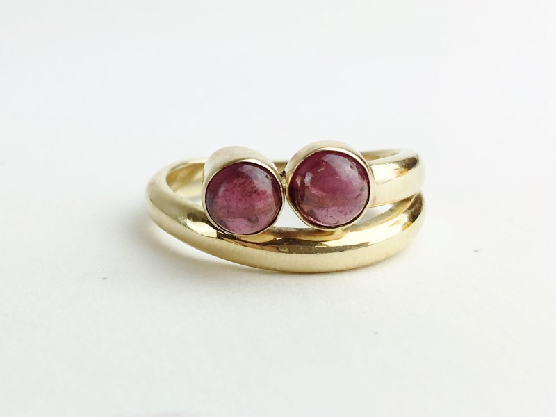 Star Ruby Ring 10K Yellow Gold 4g
