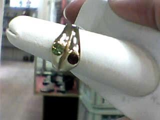 Peridot Lady's Stone Ring 14K Yellow Gold 4.2dwt Size:7